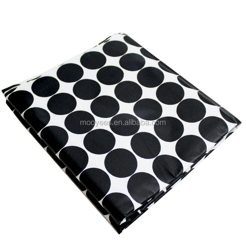 2017 fashional african print fabric fashion black and white circle design,100% cotton fabric bag