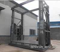 warehouse electric guide rail hydraulic cargo lift Outdoor lift elevators for warehouse cargo elevator lift