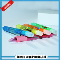 Best Cheap New Design Colorful ink Ball Pen High Quality Ball Point Pen With Highlighter