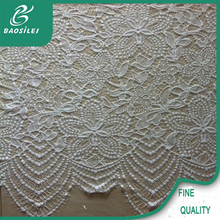 African organza lace fabric 100% nylon cutwork lace for white lace blouse