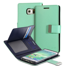 C&T Tri-Fold Leather Wallet Case with Stand Flip Cover for Samsung Galaxy S8