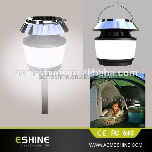 Outdoor Portable Flexible Village Green Solar Light Lamp Lantern