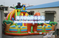 Popular inflatable wate slide jumping bouncer air bounce small bouncy castle