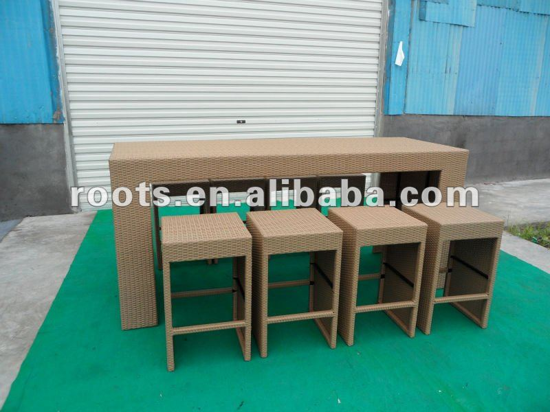 9 Piece Resin Rattan Bar/Dining Set