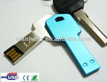 Top Seller!! Key shaped usb flash drive, Free Laser!