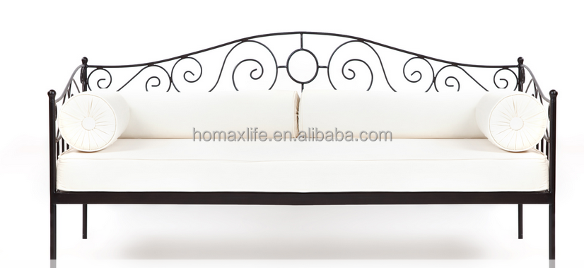 simple style wrought iron sofa cum bed design