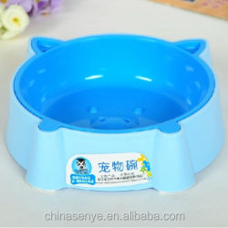 2015 cartoon pet bowl pig shape dog bowl small cat/dog basin plastic pet bowl