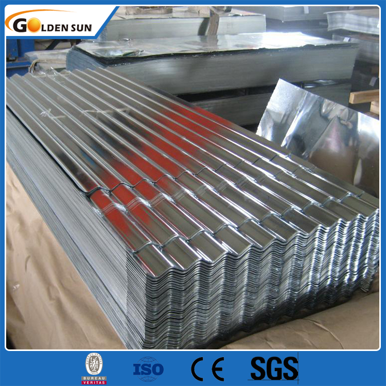 0.13-0.8mm Roofing Material Zinc Coated Corrugated Roofing Sheet