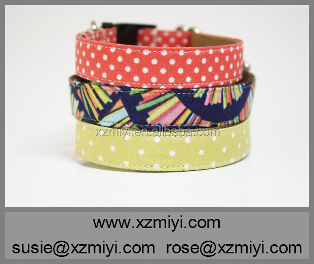 Simple Design Wholesale Soft Cotton Dog Collar