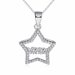 Pendant Girl Female Crystal Necklace Fashion Jewelry Jewellery