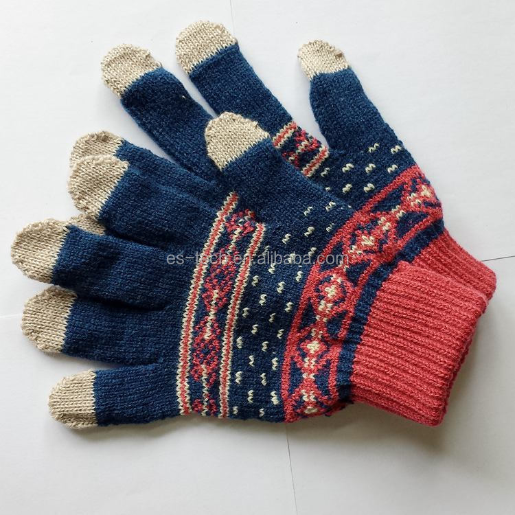 High quality winter snow custom embroidered gloves