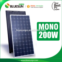 Bluesun monocrystalline 24V solar module solar panel kit 200 watt