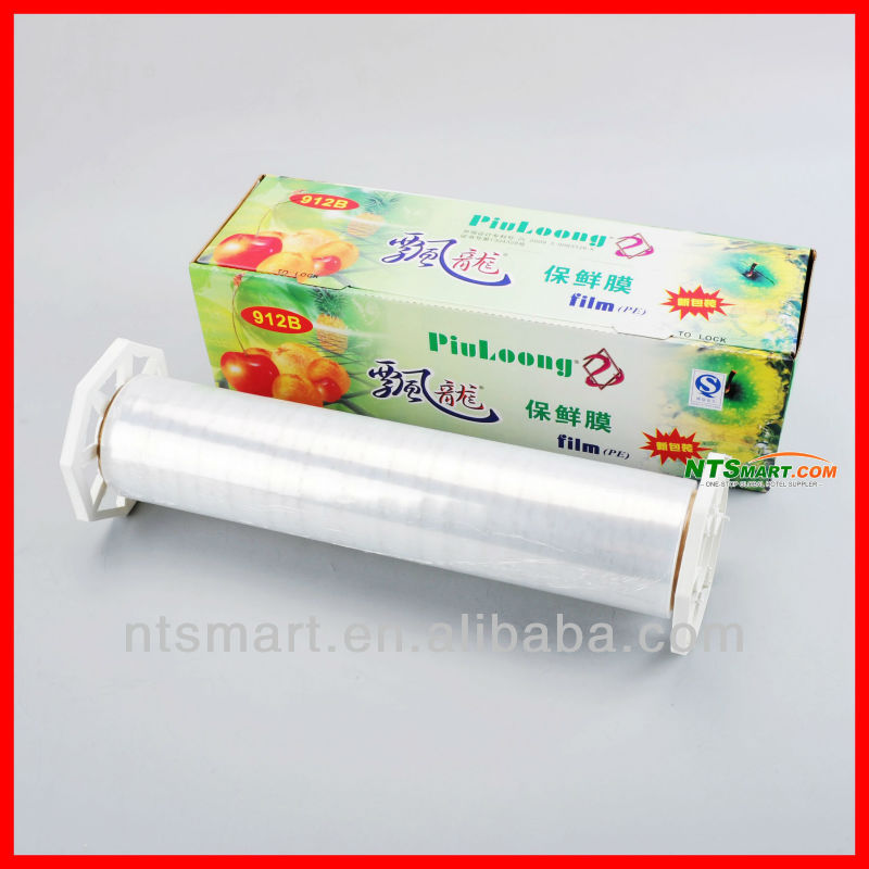 plastic wrap/PE cling wrap with slider cutter