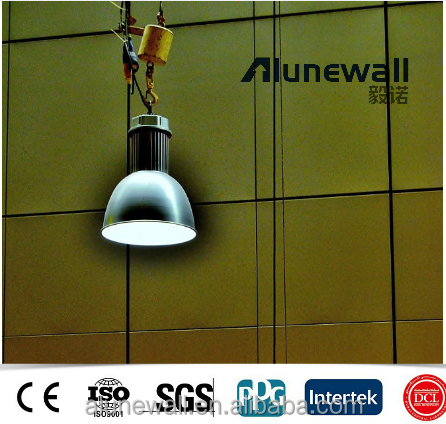 Alunewall aluminum composite panel phenolic exterior wooden hpl wall cladding