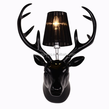 Fancy Creative Modern Hotel Resin Decorative Wall Lamp for bedside hallway living room with E27/E26 Novelty Animal wall lamp