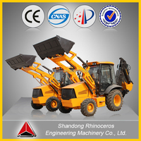 XINIU CE/TUV Approved Articulated Backhoe Wheel Loader/ Radlader with pallet forks/snow bucket/sweeper/blade/blower
