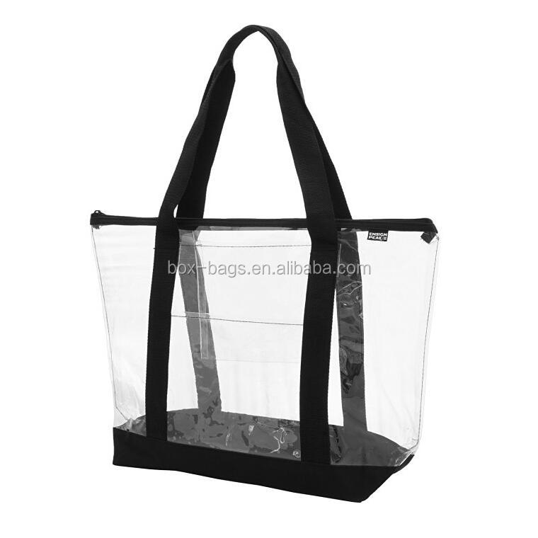 Customized Large Clear PVC Tote Bag Beach Bag