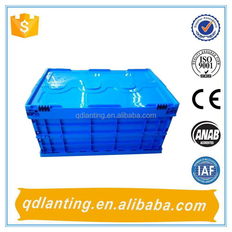 Convenient plastic collapsible crates for fruits and vegetables or other storage