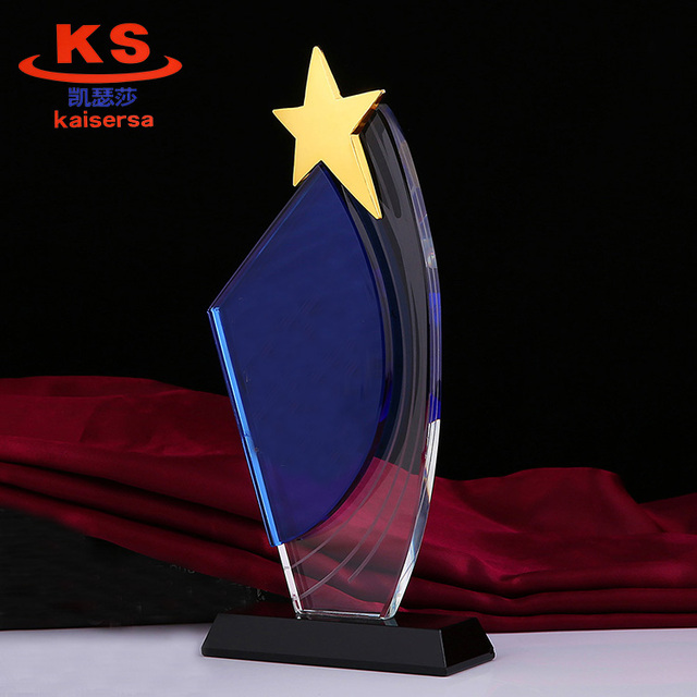 K9 star crystal plaque with with stand