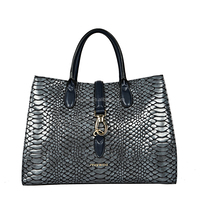 Snake PU lady handbag, 2016 new design women bag
