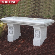 Outdoor Hand Carved White Marble Long Square Dining Table on Sale