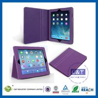 C&T Smart cover leather four folding case for ipad air
