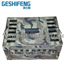 Foldable Metal Canvas Transportation cage camouflage color coat high quallity pigeon cage can put 10-20 pigeons
