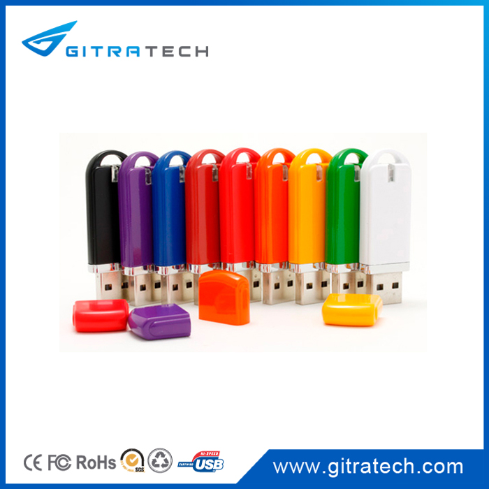 Different Capacity Colorful Plastic Custom USB Memory Sticks