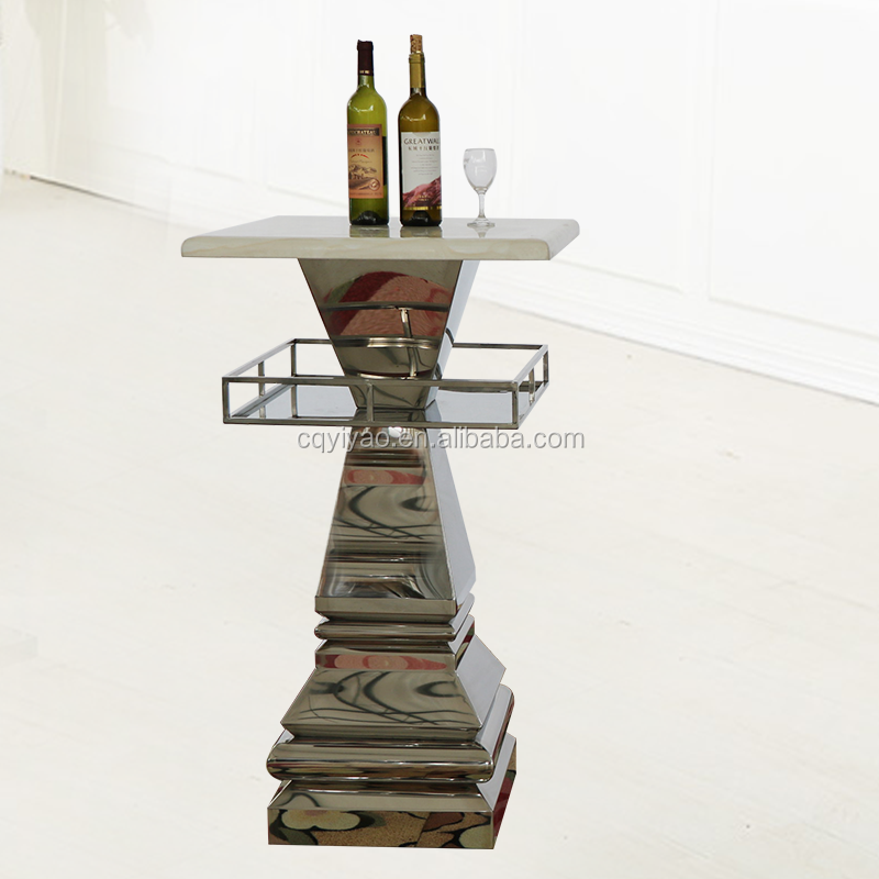 Metal Stainless Steel Dining And Bar Table Furniture New