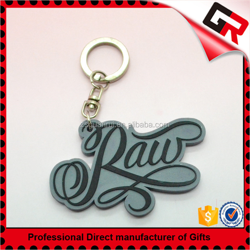Customized design 3d soft pvc rubber zombie heart keychain