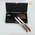 Set 6 wood handle steak knives flatware table dinner sets