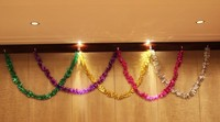 Christmas tinsel garland, glitter tinsel, decorative tinsel garland