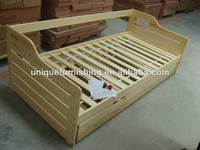 Modern quality solid pine wood box bed designs for sofa bed