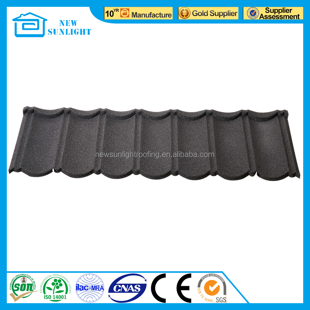 colorful galvanized stone coated steel roof sheet truss design