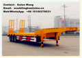 heavy duty 3 axles low flat bed truck semi-trailer for sale