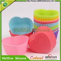 FDA approved food glad silicone cup with various design for cake making for promotion gift