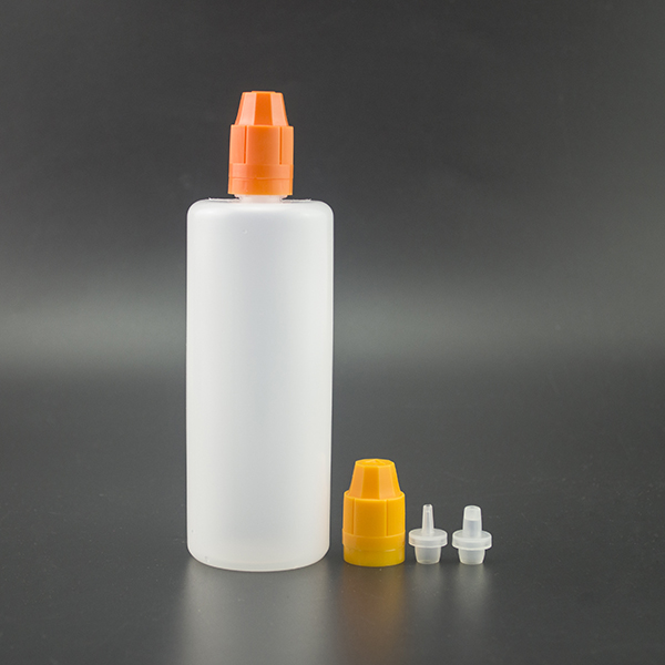 2016 the newest products empty 180ml PE plastic bottle for e liquid with childproof and tamper evident cap