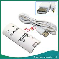For Wii Rechargeable Battery(3600mAh USB Charging Cable)