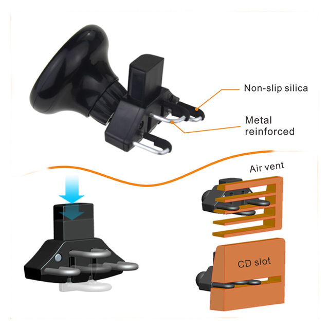 New Car Mount Vacuum Sucker Wireless Charger 360 Rotate QI Charging Phone Holder OEM ODM