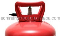 Empty disposable helium gas cylinder