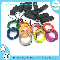 el wire waterproof el wire waterproof electrical wires decoration thin rope light EL neon rope light