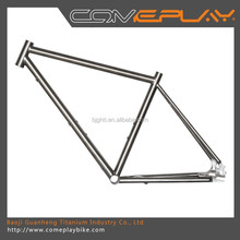 fixed gear Road frame titanium bicycle frame China produces cheap titanium frame