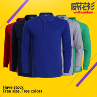 Polo shirt Free sample Advertising planning activities long sleeve cheap quality customized logo Polo shirt