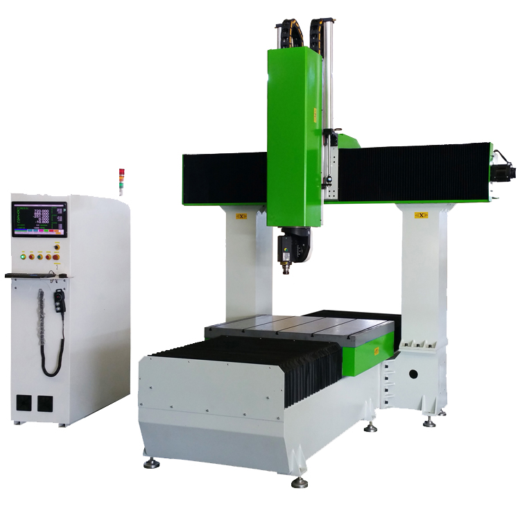 5 axis woodworking cnc cutting milling router machine for aluminum mdf plastic wood boat car mold