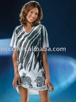 100% cotton sexy nightshirt with fashion design printing