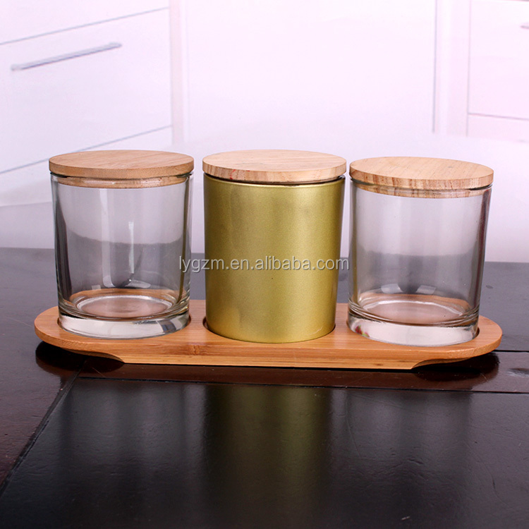 Home decoration 335ml glass cup of candle votive candle glass jar