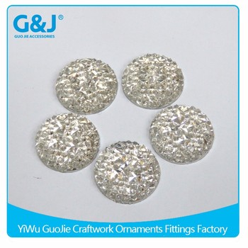 guojie brand hot sale round shape embellished garment Ladies Shoes Resin Stone