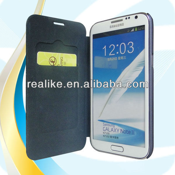 fancy case for samsung galaxy note 2,ultra thin wallet design