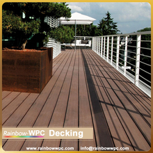 Wood Textured PVC Outdoor Plastic Composite Decking, wood plastic decking floor