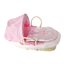 Wholesale high quality corn husk moses basket bassinet baby carry basket